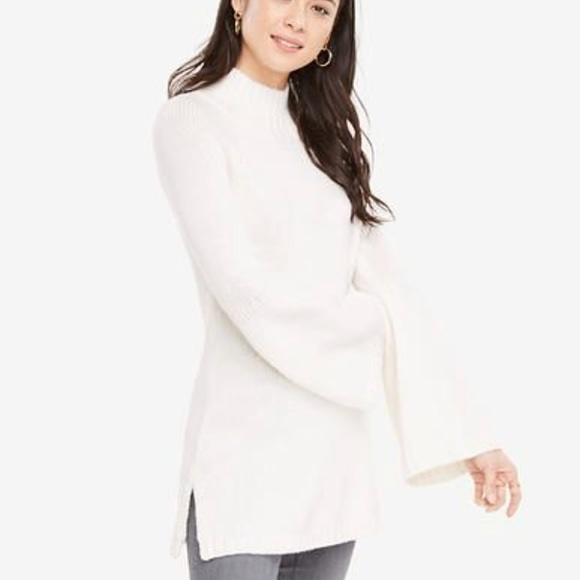 96cb6effeda7 Ann Taylor Sweaters - Ann Taylor Bell Sleeve Tunic Sweater Winter White